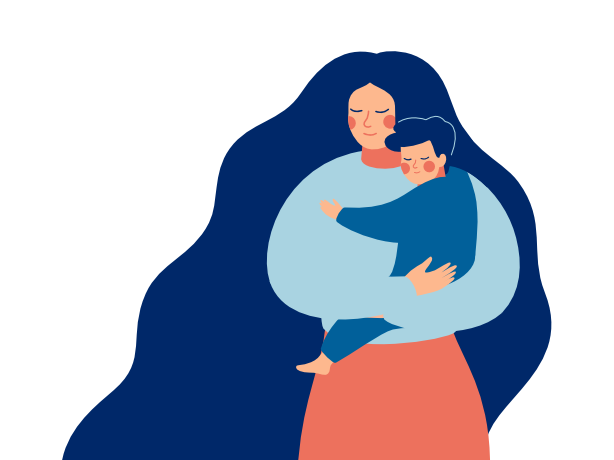 stories holding child